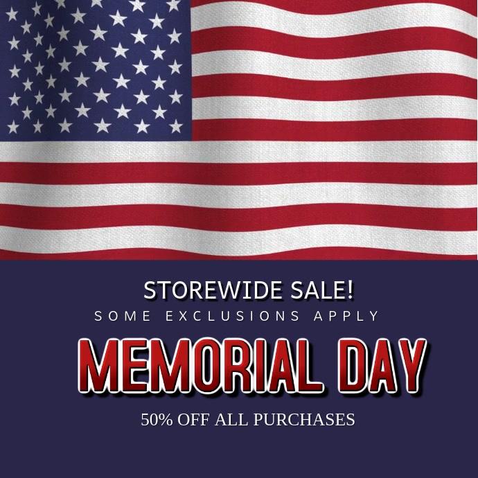 Memorial Day Sale Instagram Video Template