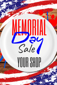 Memorial Day Sale Poster