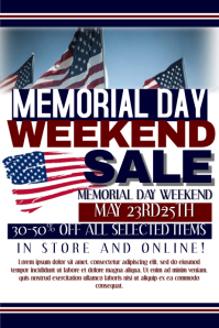 Memorial Day Flyer Template | Customize 370 Memorial Day Poster Templates Postermywall