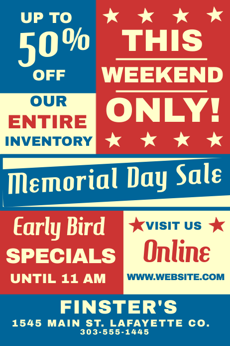 Memerial Day Sale