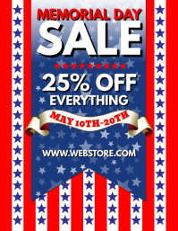 Memorial Day Sale Flyer