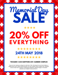 customize 460 memorial day poster templates postermywall. Black Bedroom Furniture Sets. Home Design Ideas