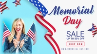 Memorial day sale twitter post template
