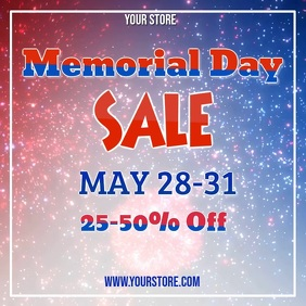 Memorial Day Sale Video Квадрат (1 : 1) template