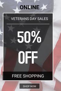 Memorial Day sales Poster template