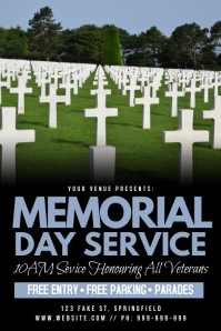 Memorial Day Service Poster