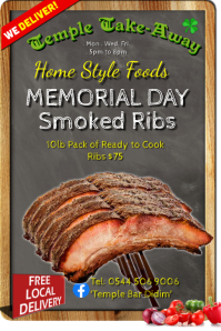 Memorial Day Smoked Ribs BBQ