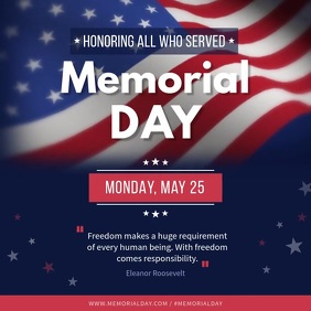 Memorial Day square video template