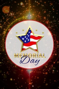 Memorial Day Template Affiche