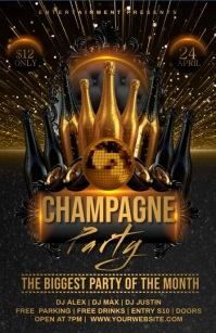 CHAMPAGNE SEXY NIGHT PARTY Tabloid template