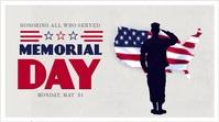 memorial day video Digitalanzeige (16:9) template