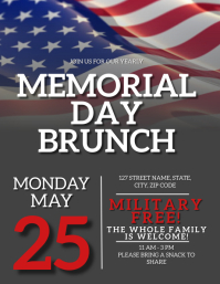 Memorial Day weekend Event Flyer Template Pamflet (Letter AS)