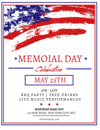 Memorial Day Weekend Event Flyer Template