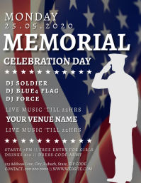 Memorial Day weekend Party Event Template Flyer (US Letter)