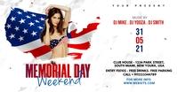 Memorial Day Weekend Party Flyer Iklan Facebook template