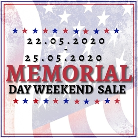 Memorial Day weekend Sale Event Template