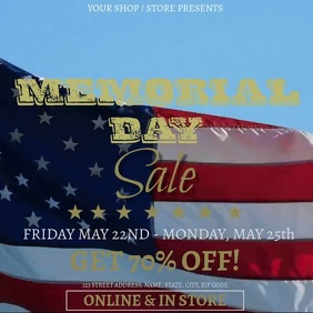 Memorial Day Weekend SaleEvent Flyer Template