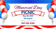 Memorial DayFB Facebook-Veranstaltungscover template