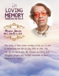 memorial in loving memory flyer