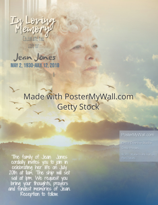 memorial in loving memory flyer template