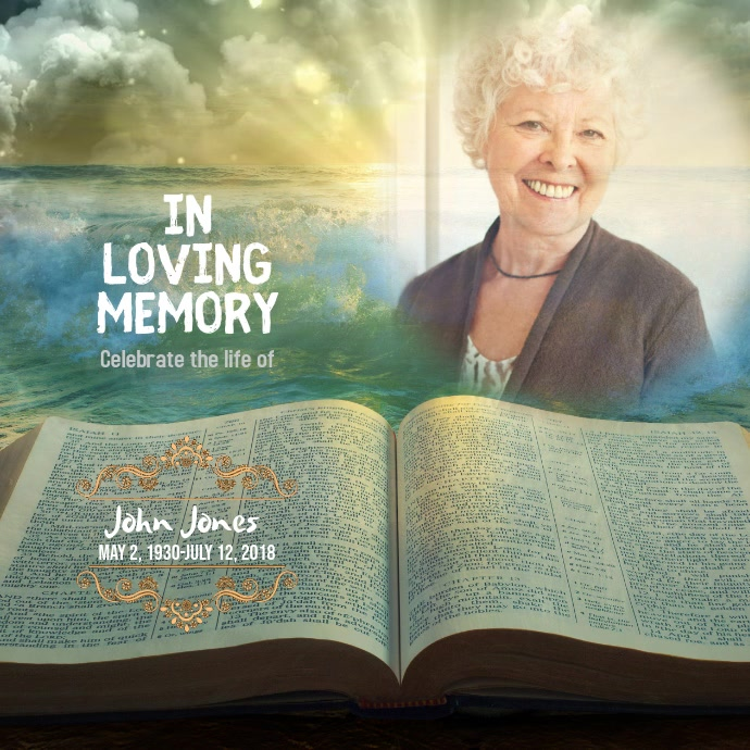 memorial in loving memory instagram template