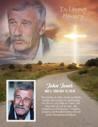memorial in loving memory sunset flyer