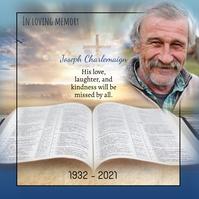 Memorial obituary instagram template