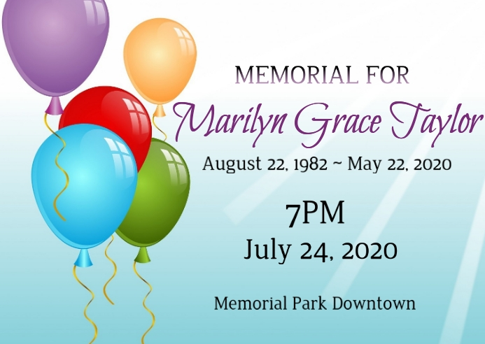 memorial service in honor of life celebration Postal template