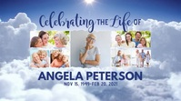 Memorial Service Photo Collage Digital Displa template