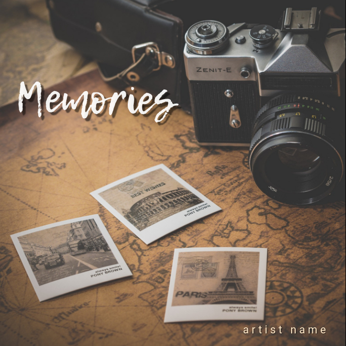 Memories Album art 专辑封面 template