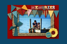 memories scrapbook family collage wall art poster