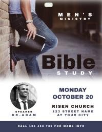 Men's Bible Study Church Flyer