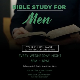 Men's Bible Study Church Template