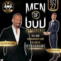 MEN'S CONFERENCE CHURCH EVENT DESIGN TEMPLATE Сообщение Instagram