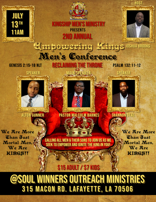 MEN'S CONFERENCE CHURCH FLYER