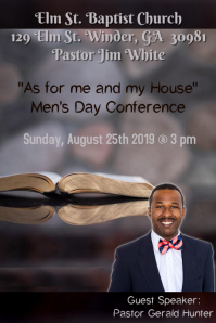 Men's Conference Flyer Template