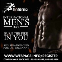 Men's Day Fitness Post Template