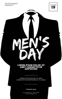 Men's Day Flyer Design Template Kindle-omslag