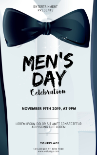 Men's Day Flyer Design Template Copertina di Kindle