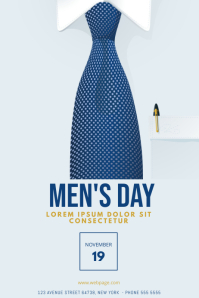 Men's Day Flyer Design Template Poster