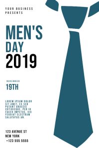 Men's Day Flyer Design Template 海报