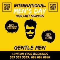 Men's Day Haircut Post Template โพสต์บน Instagram