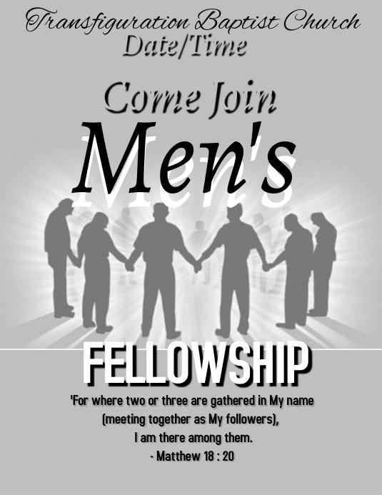Men's Fellowship Pamflet (Letter AS) template