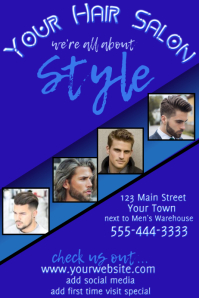 Men's Hair Salon Advertising