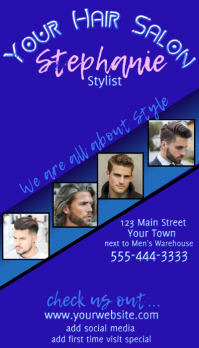 Men's Hair Salon Business Card
