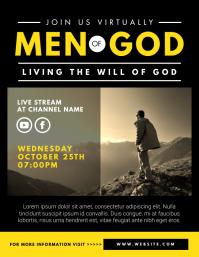 men's ministry Flyer (US Letter) template