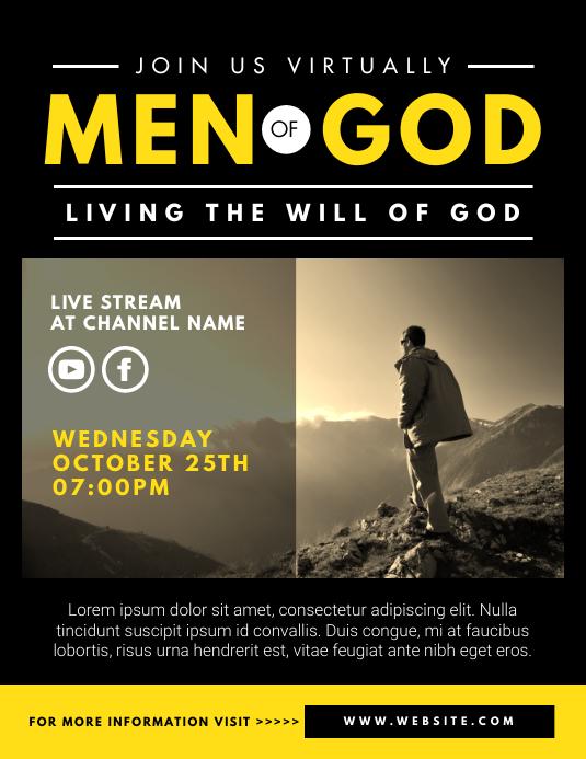 men's ministry Pamflet (Letter AS) template