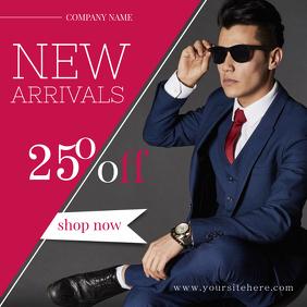 Men's Suits Instagram Post template