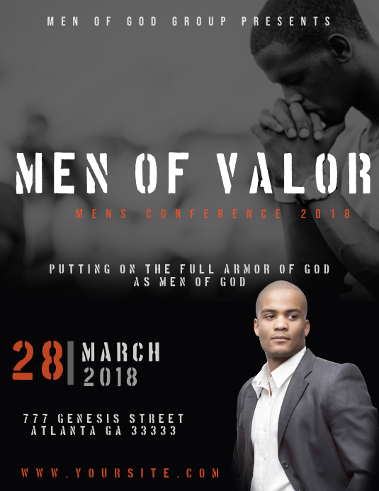 Mens Conference Event Flyer