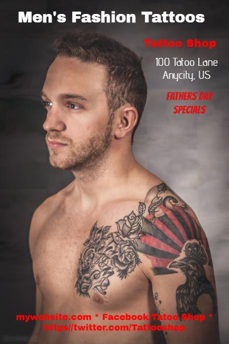 mens fashion tattoos template postermywall